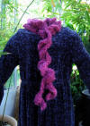 rose mohair look scarf