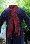handcrafted chenille crocheted scarf