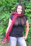 bulky handcrafted crocheted scarf
